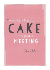 party without cake
